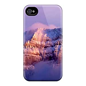 New Snap-on Kristty Skin Case Cover Compatible With Iphone 4/4s- Snow Mountain Nature
