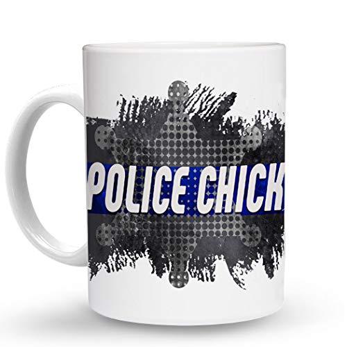 (Makoroni - POLICE CHICK Police Cop Cops - 11 Oz. Unique COFFEE MUG, Coffee Cup)
