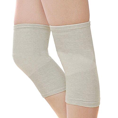 Zcargel Summer Super Thin Bamboo Charcoal Fiber Keep Knee Warm Knee Support sport dance Knee Pads 1 Pair (Charcoal Fiber)