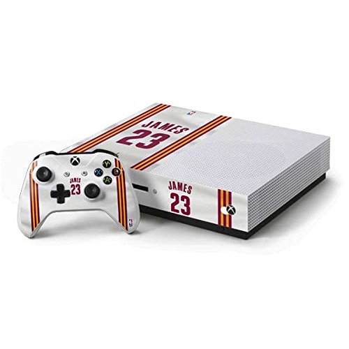 Cleveland Cavaliers Xbox One S Console and Controller Bundle Skin - LeBron James #23 Cleveland Cavaliers Home Jersey   NBA & Skinit Skin