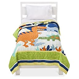 Circo® Dinosaur Embroidery Quilt -Twin