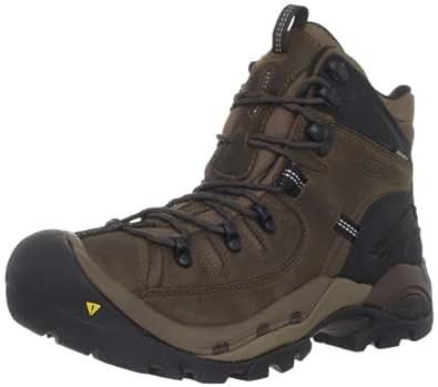 KEEN Men's Oregon PCT Hiking Boot,Dark Earth/Midnight Navy,9.5 M US
