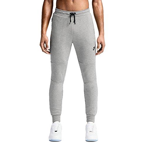 Nike mens NIKE TECH FLEECE PANT 545343-066_XL - DK GREY HEATHER/BLACK