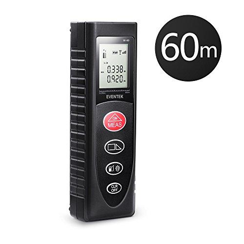 Laser Distance Meter 60m 197ft, Eventek Portable Laser Measure Tool with...
