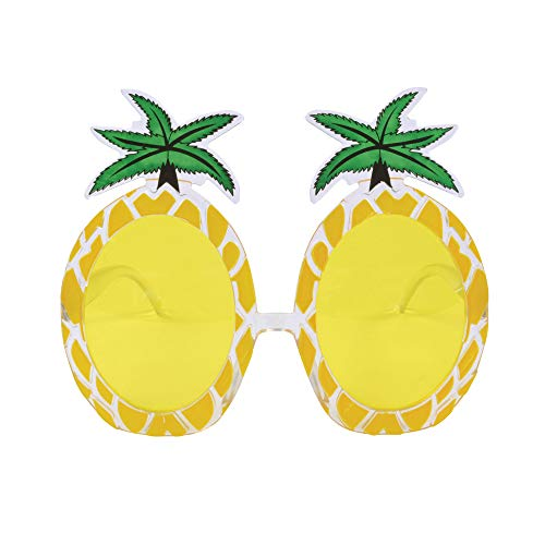 Bristol Novelty BA024 Pineapple Glasses, Unisex-Adult, Green, One Size