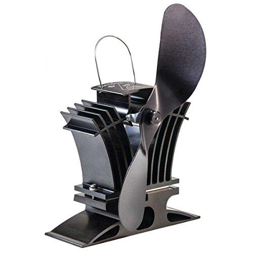 Ecofan 806CAXBX BelAir Heat Powered Gas or Pellet Stove Fan, Made in Canada, (Black Pellet Stove)