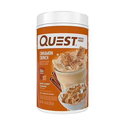 Quest Nutrition Cinnamon Crunch Protein Powder, High Protein, Low Carb, Gluten Free, Soy Free, 1.6 Pound