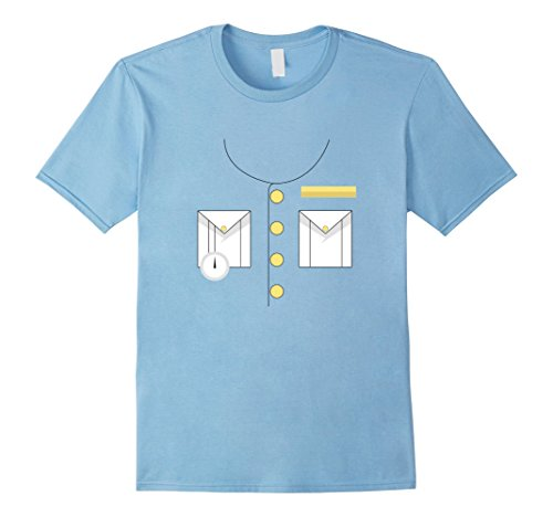 Mens Boat Captain Uniform Costume T-Shirt | Halloween Shirt Medium Baby (Love Boat Halloween Costumes)