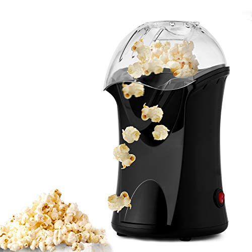 Hot Air Popcorn Maker Electric,Popcorn Machine,Popcorn Popper 1200W(US STOCK) (Black) by Hopekings