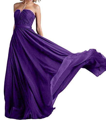A Navy Blau Rock Linie Ballkleider Fesltichkleider Brautjungfernkleider Lila Chiffon Damen La Braut Abendkleider mia qtSHz