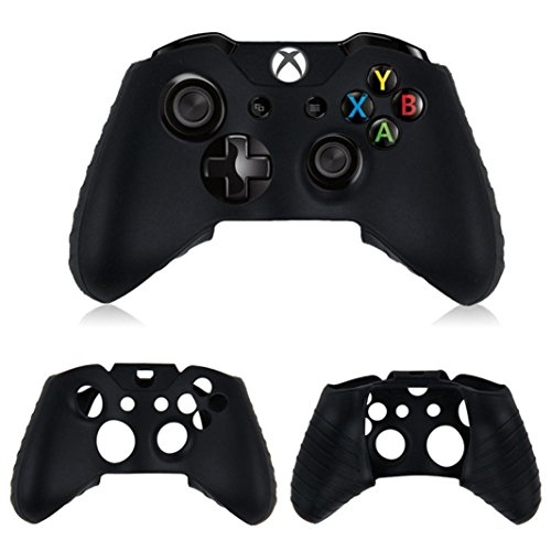 Lywey Silicone Rubber Skin Case Gel Protective Cover For Xbox One Wireless Controller (black)