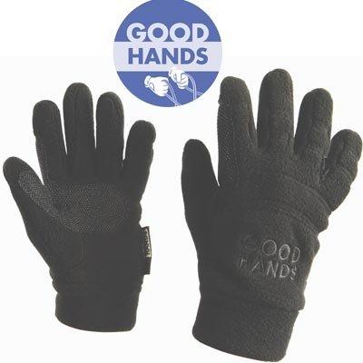 Good Hands Easy Care Fleece Pimple Grip - Color:Black Size:XSmall