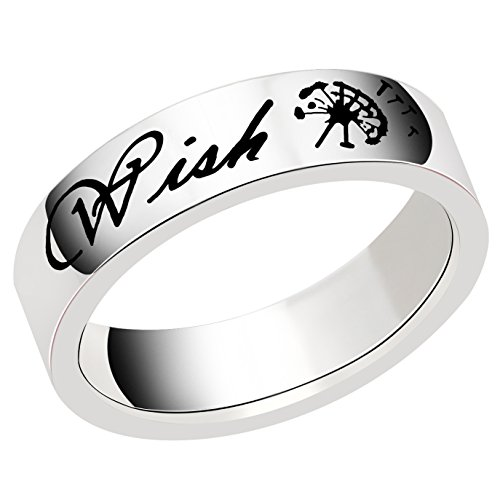Ring for Women Men Wish Dandelion GOOD LUCK Gifts for Family Friend Stainless Steel - Luck For Men Good Gifts