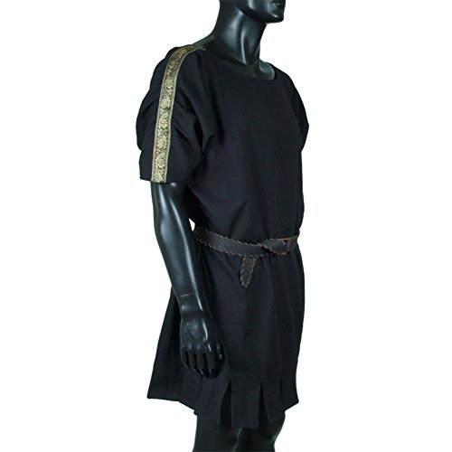 [Armor Venue: Roman Tunic - LARP Clothing and Costume Black Large] (Cheap Roman Costumes)