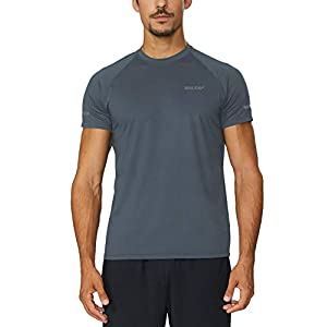 Baleaf Men's Quick Dry Short Sleeve T-Shirt Running Fitness Shirts