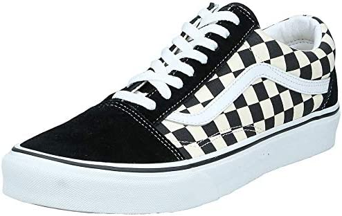 Unisex Old Skool (Primary Check) Black/White VN0A38G1P0S Mens 13, Womens 14.5
