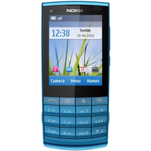 Nokia X3-02 Touch and Type Petrol Blue Unlocked Import