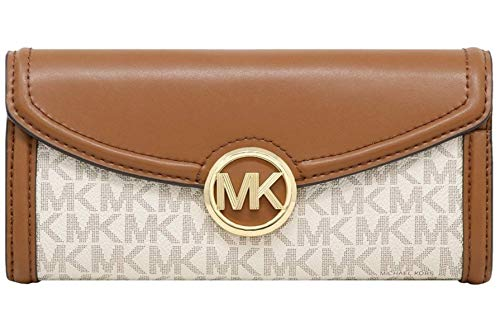 Michael Kors Fulton Large Flap Continental Wallet (2019) – Vanilla