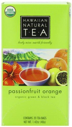 UPC 813810007332, Hawaiian Natural Tea, Passionfruit Orange, 20-Count Tea Bags (Pack of 3)