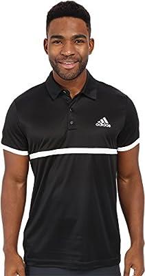 adidas Polo para tenis de hombre - S1607M606, Negro/Blanco: Amazon ...
