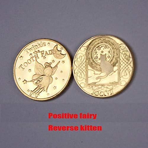 歯の妖精のコイン プロップコイン 子供のコインを希望 映画、コマーシャル、ドラマ、パーティー、メイク、魔法に適しています,9