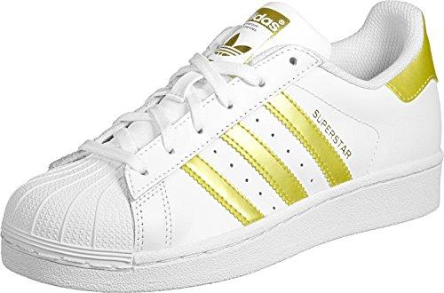 adidas Superstar J, Zapatillas de Deporte Unisex Niños Blanco ((Ftwbla/Dormet/Dormet))