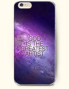 iPhone Case,OOFIT iPhone 6 Plus (5.5) Hard Case **NEW** Case with the Design of god is the greatest artist - Case for Apple iPhone iPhone 6 (5.5) (2014) Verizon, AT&T Sprint, T-mobile