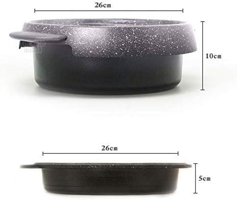 YAOZEDI-ElectricGrills Four électrique Maison coréenne Multi-Fonction Hot Pot électrique antiadhésif Pas fumée Haute Puissance Barbecue poêle Combinaison Set Pot 1300W