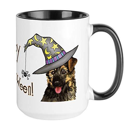 CafePress Halloween GSD Large Mug Coffee Mug, Large 15 oz. White Coffee Cup -
