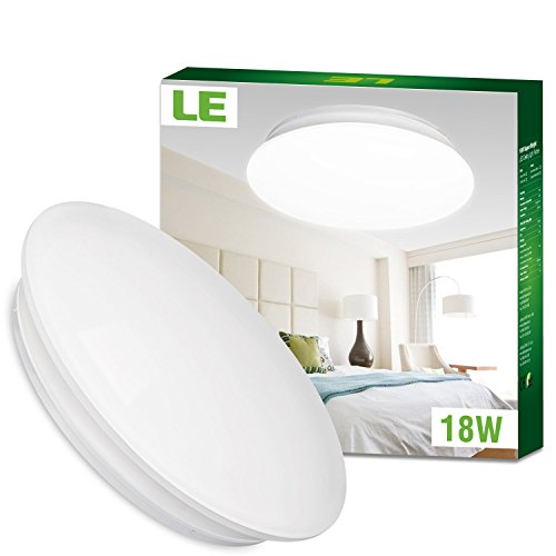 LE 18W 14 Inch Daylight White LED Ceiling Lights 120W Incandescent 40W Fluorescent Bulb Equivalent 1450lm 6000K Light Fixture