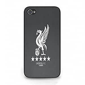 Trend Grey Background Liverpool Futbol Club Phone Case Cover for Iphone 4 4s Liverpool FC Stylish Design