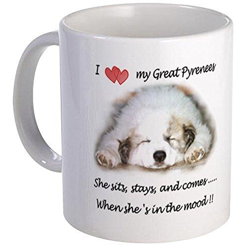CafePress Great Pyrenees Sits Stays Comes Mood, Mug Mugs Unique Coffee Mug, Coffee Cup ()