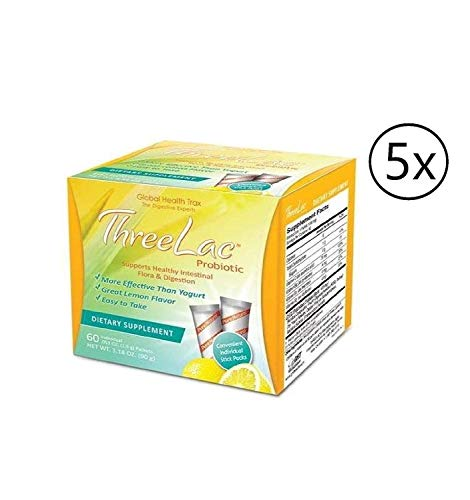 Threelac Probiotic Lemon Flavor Dietary Supplement 3.18 oz (1 Pack) Support Healthy Intestinal Digestion