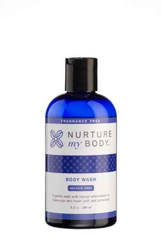 Nurture My Body Fragrance Free Organic Body Wash - SLS Free - For Sensitive Skin - 8 fl oz