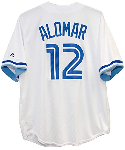 Roberto Alomar Toronto Blue Jays #12 MLB Men's Cool Base Cooperstown Collection Jersey (XLarge) (Cooperstown Jersey Majestic Collection)