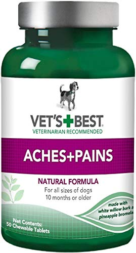 Vet's Best Aches + Pains Chewable Tablets for Dogs, 50 Count, 12 Pack