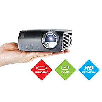 Image of Video Projectors AAXA S2 Mini LED Projector, USBC Smartphone Laptop Mirroring, 6 Hour Built-in Battery, 720p HD Native Resolution (Support 1080p) Portable Projector, Keystone, HDMI, USB, Onboard Media Player, DLP