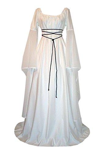 Dressit Women's Medieval Renaissance Retro Gown Vintage Cosplay Costume Dresses