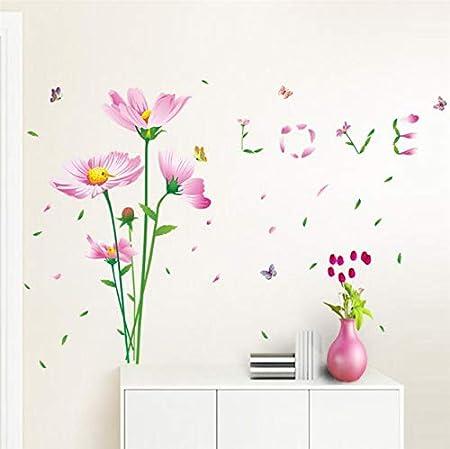 ytwww123 Pegatinas de Pared Hermosas Flores de Margarita Love ...