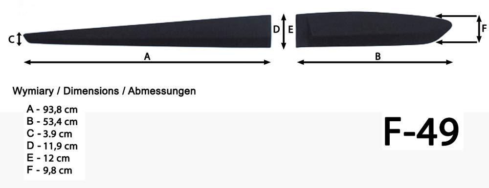 Spangenberg 370004901 Lot de 5 Bandes de Protection lat/érales pour hayon Hyundai i10 II Noir