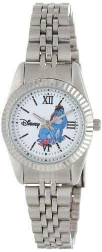 - Disney Women's W000586 Eeyore Silver-Tone Status Watch