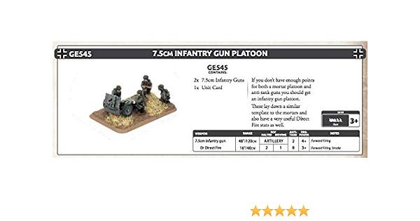 GE570* SHIPPING NOW FLAMES OF WAR 15CM INFANTRY GUN PLATOON