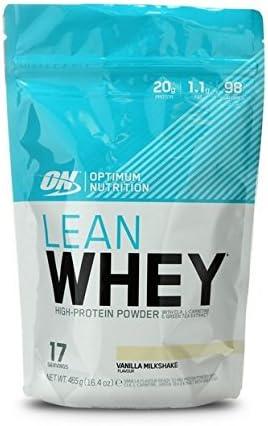 Optimum Nutrition Opti-Lean Whey Proteína, Vainilla - 465 g