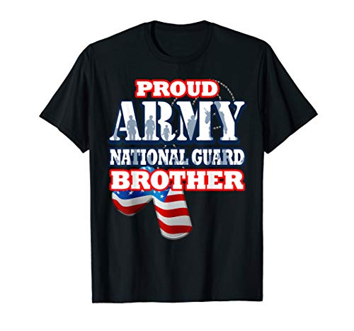(USA Proud Army National Guard Brother Shirt Men)
