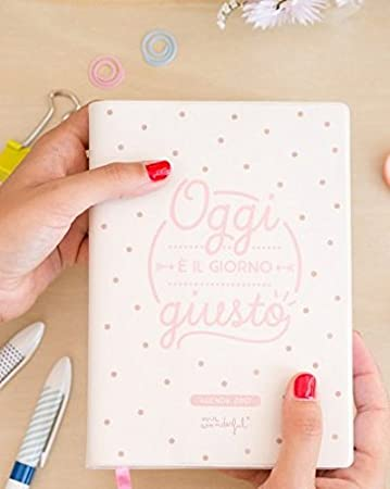 Mr Wonderful - Agenda pequeña de 2017, diaria, con texto en ...