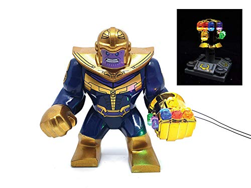 - Marvel Avengers Super Heroes - Thanos Mini Figure with Handmade LED Infinity Gauntlet