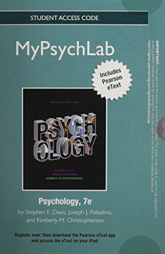 NEW MyLab Psychology with Pearson eText -- Standalone Access Card -- for Psychology (7th Edition)