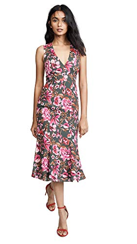 Versailles Olive - Fame and Partners Women's The Bianca Dress, Versailles Olive, Floral, Pink, 2