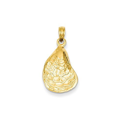 14k Yellow Gold Oyster Shell Pendant 14k Yellow Gold Oyster