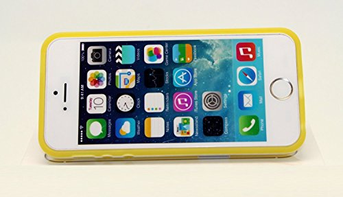 YAN'S WHOLE SALE--(For Iphone 5s or Iphone 5 Only ! Not Compatbile with Iphone 5c) , 2-tone with White Border Trim. Slim Fit Flexible Tpu Back Case Cover for Apple® Iphone® 5s / 5. Designed Specifically for the Apple® Iphone® 5s /5 . Quick and Easy Installation for a 100% Perfect Fit. The Case Enclosure Consists of Shock-absorbing, High-grade Flexible Thermoplastic Polyurethane (Tpu). Tpu Does Not Stretch Out or Tear. The Case Provides for a Tight, Slim Fit and Offers Maximum Protection for Your Apple® Iphone® Device.-Yellow